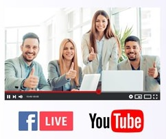 streaming con FB live e YouTube