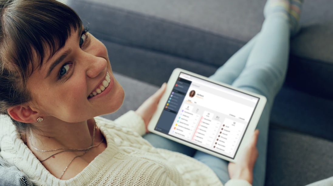 collabora con il team di lavoro su Tablet con Avaya Spaces