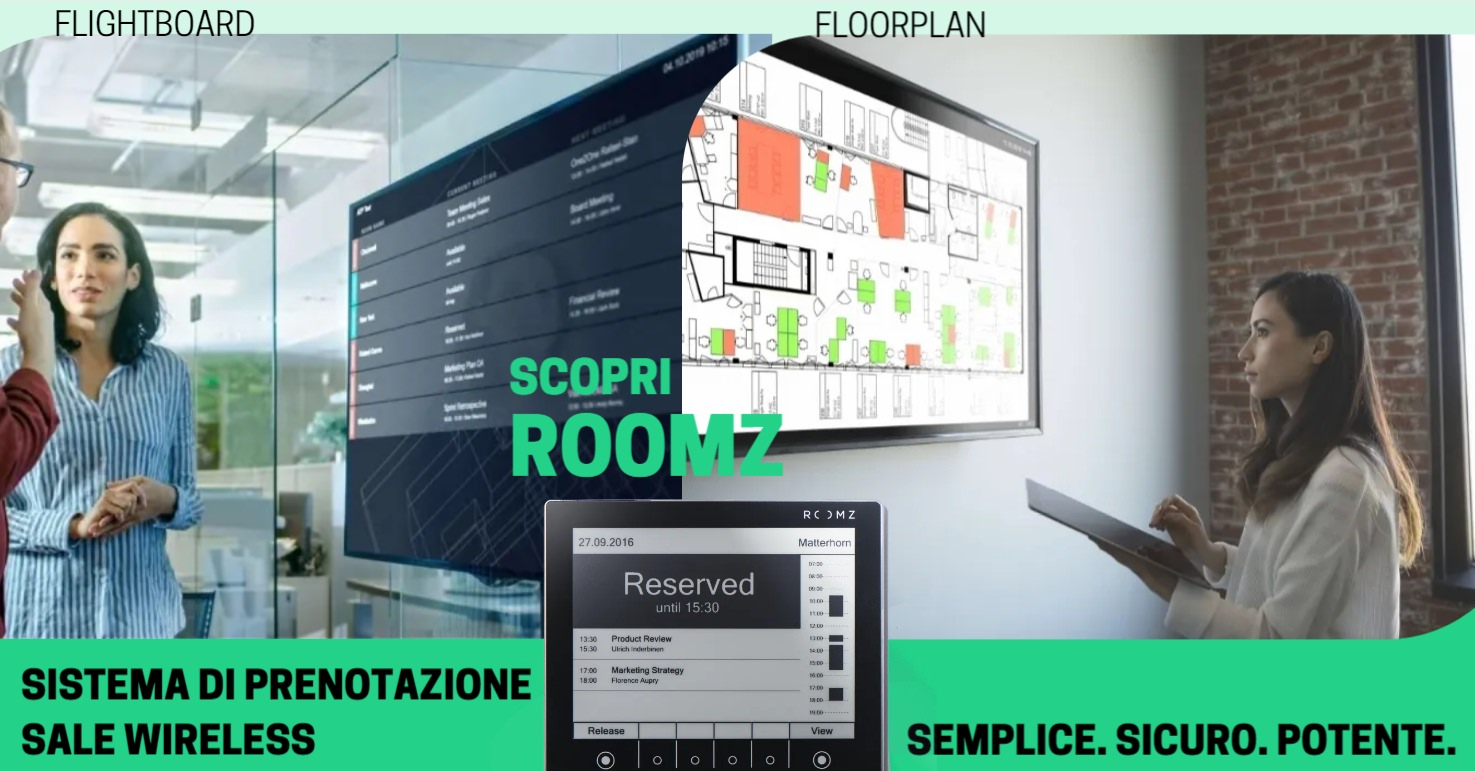 Roomz, con Flightboard e Floorplan